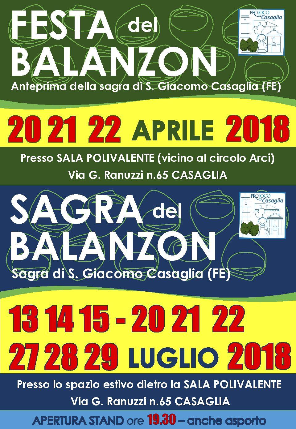 PRO LOCO CASAGLIA – SAGRA DEL BALANZON